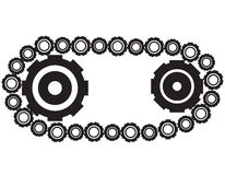 Gears. The gears on a white background Royalty Free Stock Photos