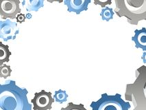 Gears white background border Royalty Free Stock Photos