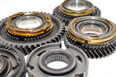 Gears  on white background. Royalty Free Stock Photo
