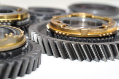 Gears  on white background. Stock Photos