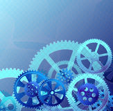 Gears white blue Royalty Free Stock Image