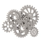 Gears on white Stock Photo