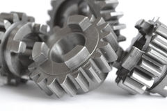 Gears on white Royalty Free Stock Photo