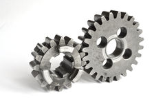 Gears on white Stock Image