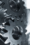 Gears in wide-angle perspective Royalty Free Stock Photo