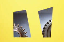Gears In Windows Stock Photography
