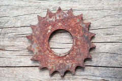 Gears on wooden background Royalty Free Stock Photo