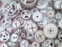 Gears wooden Stock Image