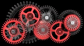 Gears. Work concept. Stock Images