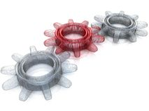 Gears. Work concept. Royalty Free Stock Image