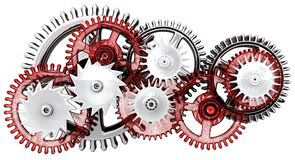 Gears. Work concept. Royalty Free Stock Photos