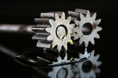 Gears working together Royalty Free Stock Photo