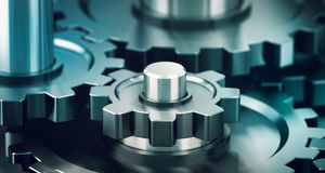 Gears, Working Together Concept Royalty Free Stock Photos