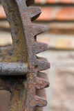 Gears and worm gear. Old and rusty gears and worm gears Stock Photo