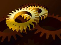 Gears in yellow Stock Photos