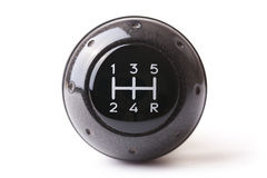 Gearshift. Photo shot of gearshift on white background royalty free stock photos