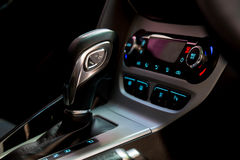 Gearshift in the car. Handle a automatic transmiss Stock Image