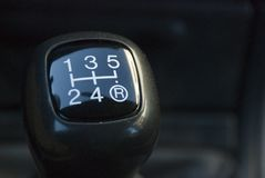 Gearshift manual. Close-up picture of a gearShift manual royalty free stock photography
