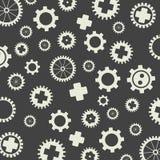 Gearss pattern gray background. Royalty Free Stock Image