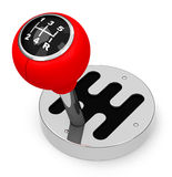 The gearstick. 3d generated picture of a gearstick Stock Photo