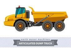 Gearticuleerde stortplaatsvrachtwagen voor grondwerkenverrichtingen Stock Foto