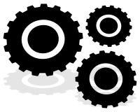 Gearwheel, значок шестерни Установки, конфигурация, развитие бесплатная иллюстрация
