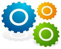 Gearwheel, значок шестерни Установки, конфигурация бесплатная иллюстрация