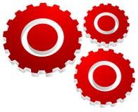 Gearwheel, значок шестерни Установки, конфигурация иллюстрация вектора