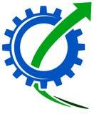 Gearwheel with arrow Stock Photo