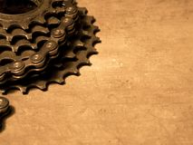 Gearwheel with chain Royalty Free Stock Photos