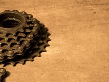Gearwheel with chain Stock Photos
