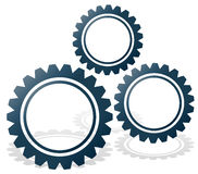 Gearwheel composition. Stock Images