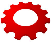 Gearwheel, gear icon. Settings, configuration, developement, pro. Gress-process concept icon - Royalty free vector illustration Stock Image