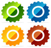 Gearwheel, gear icon. Settings, configuration, developement, pro. Gress-process concept icon - Royalty free vector illustration Stock Photo