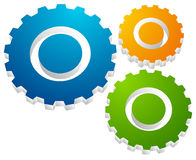 Gearwheel, gear icon. Settings, configuration. Development, progress-process concept icon  - Royalty free vector illustration Stock Images