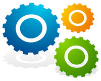 Gearwheel, gear icon. Settings, configuration. Progress-process concept icon  - Royalty free vector illustration Stock Photography