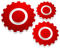 Gearwheel, gear icon. Settings, configuration. Gearwheel, gear icon. Settings, configuration, progress-process concept icon  - Royalty free vector illustration Royalty Free Stock Photos