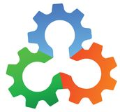 Gearwheel. Illustration art of gearwheel logo with isolated background Stock Image