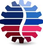 Gearwheel logo Royalty Free Stock Photos