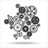 Gearwheel mechanism background Royalty Free Stock Photo