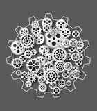 Gearwheel mechanism background. Vector illustration Stock Photography