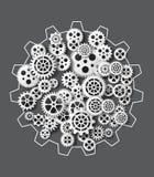 Gearwheel mechanism background. Vector illustration. Vector illustration gearwheel . paper cut style Stock Photography