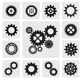 Gearwheel mechanism icon Royalty Free Stock Images
