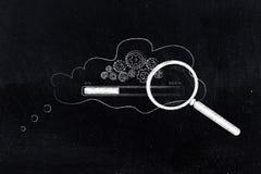 Gearwheel mechanizm z postępu baru ładowania inside myśleć bub zdjęcia stock