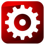 Gearwheel, rack wheel, gear icon, sign. Service, development, ma Royalty Free Stock Images
