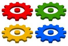 Gearwheel, rack wheel, gear icon, sign. Service, development, ma Royalty Free Stock Photos