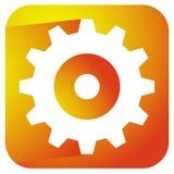 Gearwheel, rack wheel, gear icon, sign. Service, development, ma Stock Photo