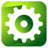 Gearwheel, rack wheel, gear icon, sign. Service, development, ma. Nufacturing, settings concepts. - Royalty free vector illustration Royalty Free Stock Image