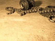 Gearwheel z łańcuchem Obrazy Stock