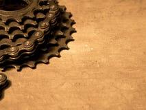 Gearwheel z łańcuchem Zdjęcia Royalty Free